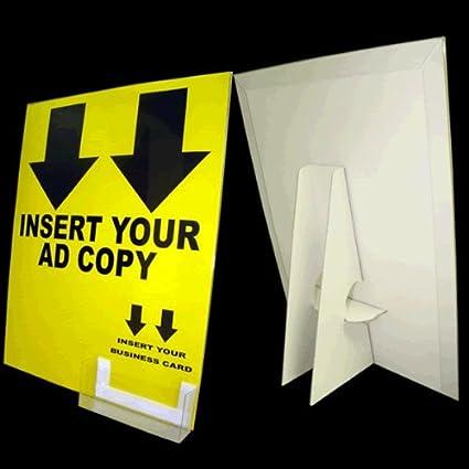 Amazon 8 12 x 11 cardboard sign holder includes display 8 12 x 11 cardboard sign holder includes display cover business card colourmoves
