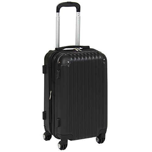 Best Choice Products 20″ Hardshell Spinner Expandable Carry On Luggage Travel Bag- Black