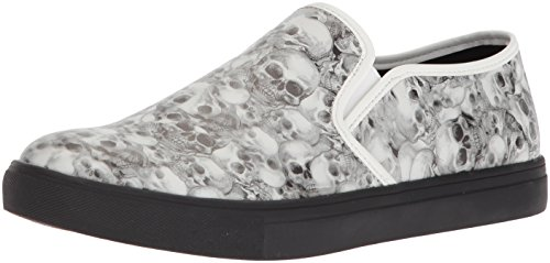 (Steve Madden Men's HELION Sneaker, Black/White, 9 M US)