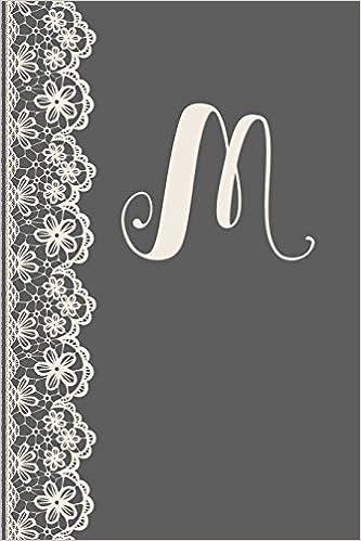 Descargar U Torrent M: Monogrammed Journal Vintage Lace With Monogram Personalized Letter 'm' Novelas PDF