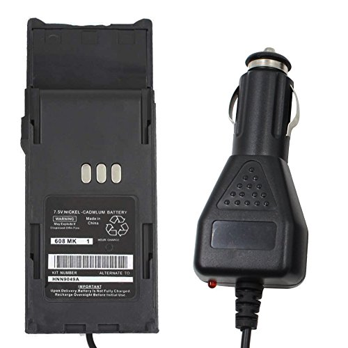 KENMAX Battery Eliminator Car Vehical Charger for Two Way Radio Motorola HNN9049AR HNN9049B HNN9049 P1225 P1225 LS