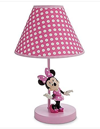 Disney Minnie Mouse Lamp For Baby,Minnie Mouse On Pink Base,Pink Polka Dot