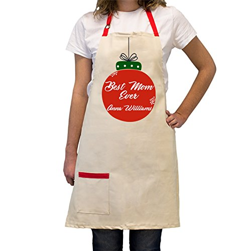 Funny, Holiday Season Customized, Adjustable, Cotton Cooking Apron with Pocket -Heat-Resistant- Personalized BBQ / Cooking Kitchen Gifts for Chefs (Best Mom-Custom) (Halloween Blu Ray Box Set Australia)