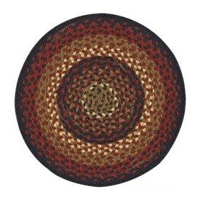 Park Designs Folk Art Braided Placemat,Red, Black, Mustard, Tan,13
