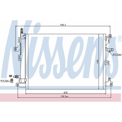Nissens 940089 Kondensator Klimaanlage