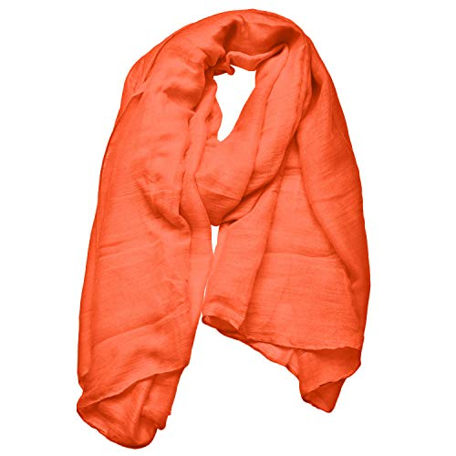 Woogwin Women's Cotton Scarves Lady Light Soft Solid Scarf Wrap Shawl