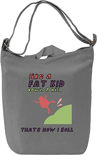 That's how i roll Borsa Giornaliera Canvas Canvas Day Bag  100% Premium Cotton Canvas  DTG Printing 