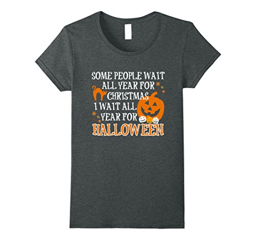 Womens Halloween Is My Favorite Holiday Pumpkin Tshirt Large Dark Heather (Halloween Is My Favorite Holiday)