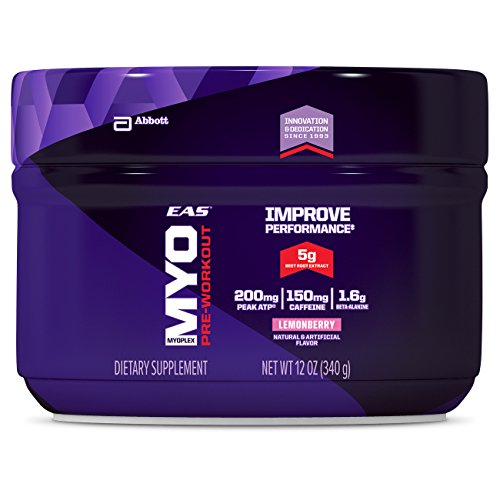 EAS Myoplex Pre-Workout Powder Lemon Berry, 12 ounce
