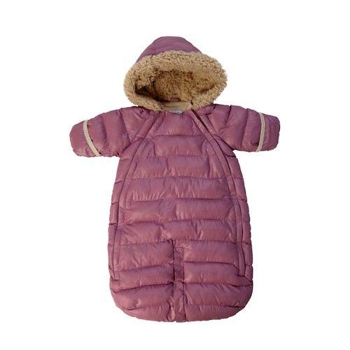 7AM Enfant Doudoune One Piece Infant Snowsuit Bunting, Lilac, Small