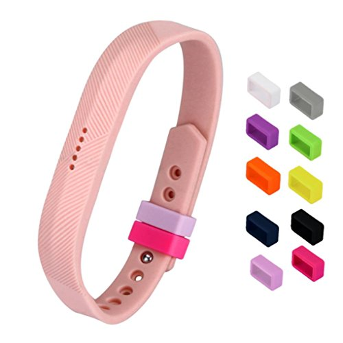 Security Clasp - For Fitbit Flex 2 Fasteners Clasp, Joint 10 Colours Secure Holder Silicone Bands Fasteners Clasp for Fitbit Flex 2 Wristbands