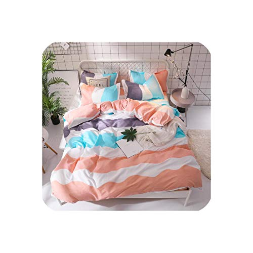 mamamoo Green Cactus Bedding Set Queen Size Plant Home Bedding Sheet Single Bed Linen King Bed Set Duvet Cover,157,Twin 4Pcs,Flat Bed Sheet