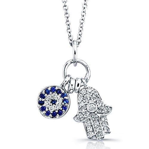 Gold Diamond Hamsa Pendant - 4