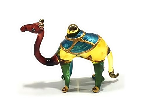 Handmade Camel Art Glass Blown Desert / Wild Animal Figurine -