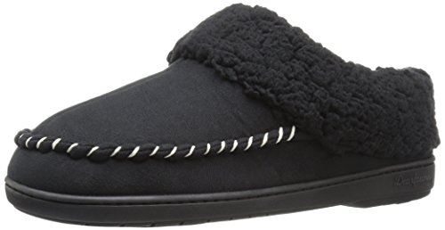 - Dearfoams Women's Microsuede Clog Mule, Black, Medium/7-8 M US