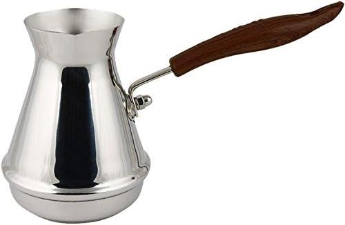 Cafetera turca de acero inoxidable (1 mm), 250 ml: Amazon.es: Hogar