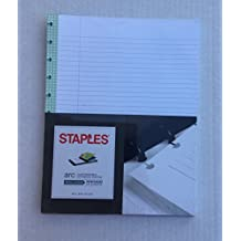 Staples Arc Customizable Notebook System Refill Paper Reinforced Sheets 8.5 x 11 inch |50 Sheets College Ruled (Light Green)