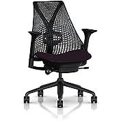 Herman Miller Sayl Task Chair: Tilt Limiter - Adj Lumbar Support - Stationary Seat Depth - Stationary Arms - Hard...