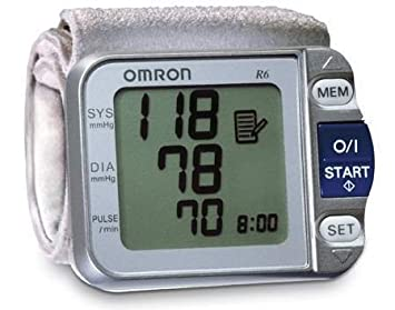 Omron R6 Hem-6052 Wrist Personal Blood Pressure Bp Monitor with Cuff Brand New Good