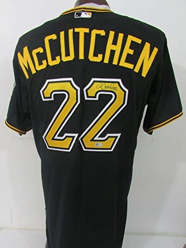super popular 1eea7 faf4c Andrew McCutchen Pirates Signed Black Majestic Jersey MLB ...