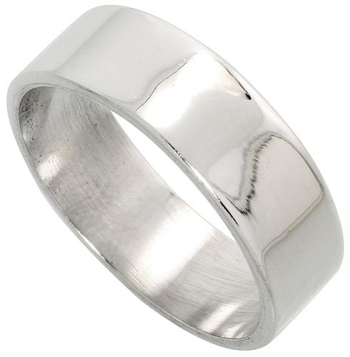 Sterling Silver 7mm Flat Band - 1