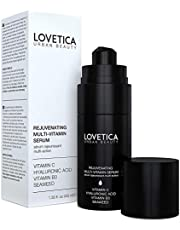 Vitamin C Serum for Face: Anti Aging With Hyaluronic Acid, Vitamin B3 and Seaweed Extract. Best as Wrinkle Reducer, Collagen Booster & Dark Spot Corrector. (40ml Anti UV Bottle) - Now Fragrance Free & DERMATOLOGICALLY TESTED