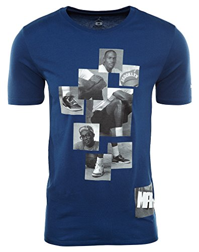 Jordan Ill Mike And Mars T-Shirt Mens Coastal Blue/Cement Grey XHFfB