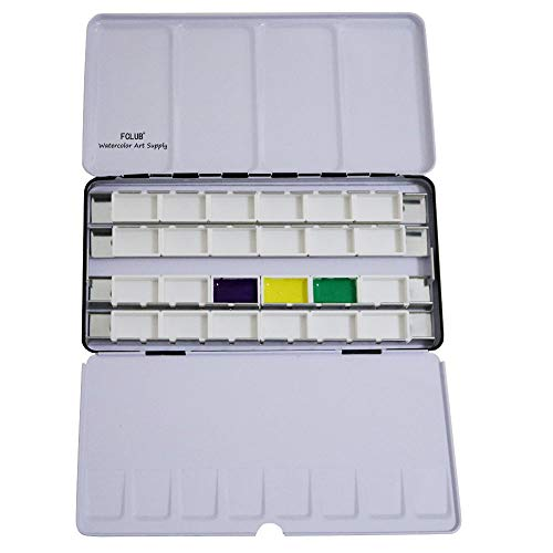 Fclub Empty Watercolor Tins Palette Paint Case - Large for sale  Delivered anywhere in USA