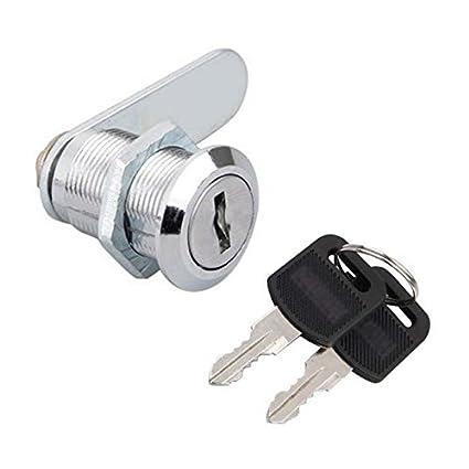 Weeton Cerradura Candado Cam Lock cerraduras del gabinete Cerraduras de muebles cerradura del buzón 16mm /