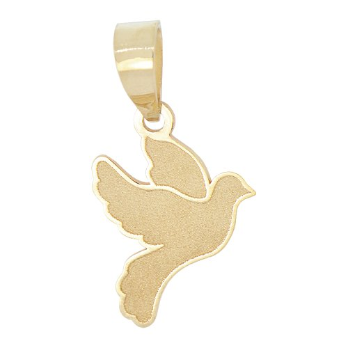 Yellow Gold Dove Charm - 5