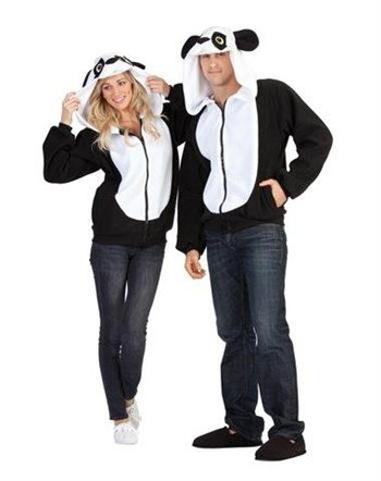 RG Costumes Men's Parker Panda Hoodie, Black/White -