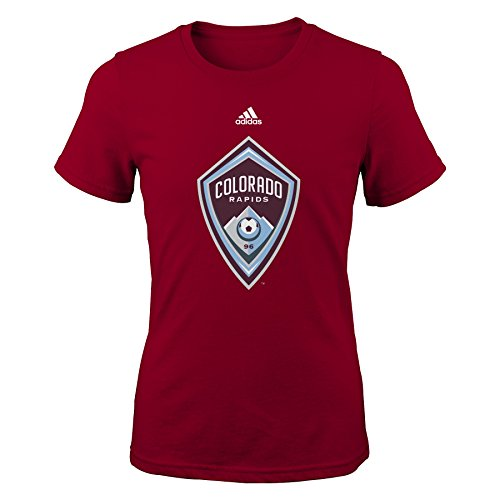 fan products of MLS Colorado Rapids Girls -Primary Logo Short sleeve Tee, Brick, Small (7-8)