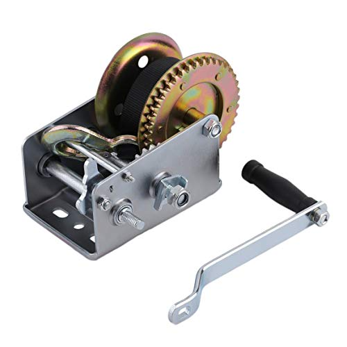 (Manual Hand Winch with Webbing Sling 2500lbs Boat Trailer Caravan 6M 19ft Strap Length Marine Puller Hand Tool Lifting Sling)