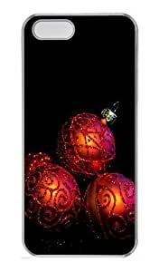 08 20 Christmas Wreath Transparent Clipart PC For Iphone 4/4S Phone Case Cover Transparent Halloween gift Kimberly Kurzendoerfer