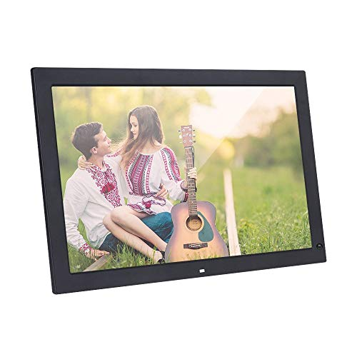 Andoer 18.5 Inch Wide Screen 1366 768 High Resolution LED Digital Photo Frame Digital Album with Remote Control Motion Detection Sensor Support Audio Video Playing Clock Alarm Calendar Functions