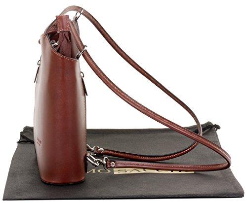 Sac à cuir à moyennes grandes à la fabriqué rangement main main sac marque et un Marron Moyen ou sac à bandoulière nbsp;Versions protecteur de nbsp;Comprend en de sac italien dos vvr6qw