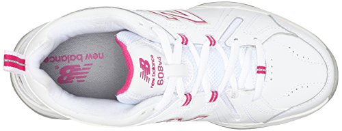 B White Shoe Exuberant New White Training WX608V4 10 Light Blue US Pink 5 Women's Balance qfvfT7