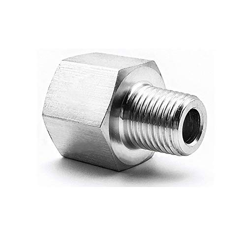 Fitting Pipe to Metric 1//2 NPT Female to M14X1.5 Male Stainless Steel