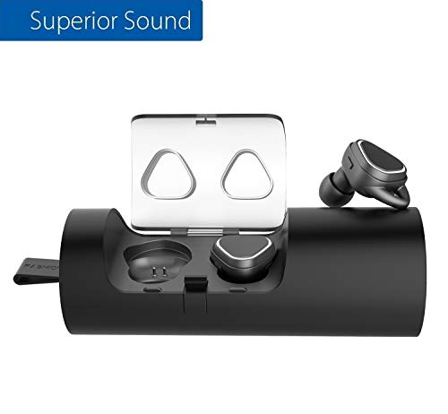 Wireless Earbuds, Bluetooth Headphones V4.2 in-Ear with Noise Reduction Mic,15H Playtime Dual Stereo Bass Mini Earphones Sweatproof with Charging Case for Gym/Hiking/Leisure