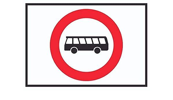 HB_Druck - Cartel con diseño de autobús Prohibido el Paso ...