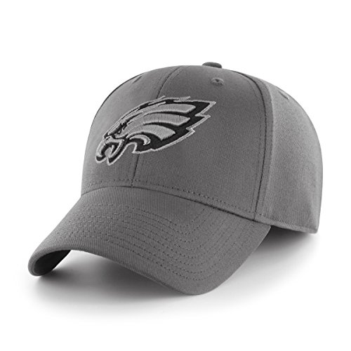 OTS NFL Philadelphia Eagles Comer Center Stretch Fit Hat, Charcoal, Large/X-Large