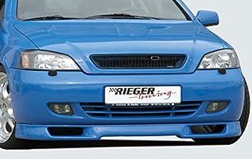 Rieger Frontal Alerón Labio Negro Mate para Opel Astra G: Amazon.es: Coche y moto