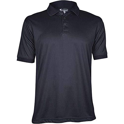 Gear Top Polo - LA Police Gear Men's Anti-Wrinkle Moisture Wicking Recon Jersey Polo Shirt - Dark Navy-S