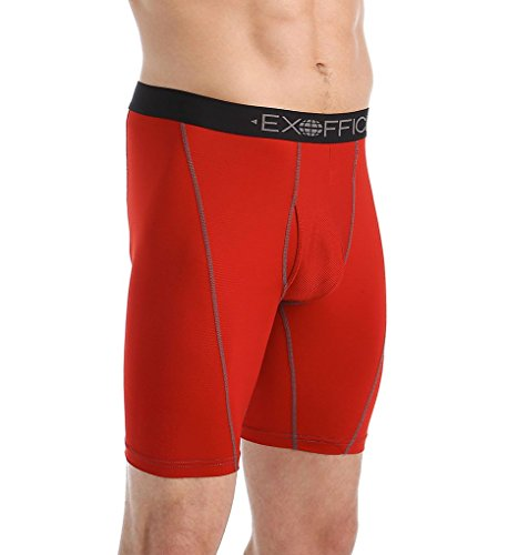 Exofficio Men's Give-N-Go Sport Mesh Boxer Brief, Stop, Larg
