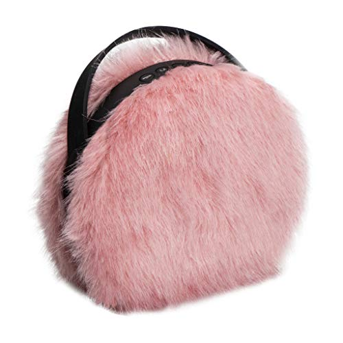 (Furry Pink Wireless Bluetooth Speaker | Cute, Rechargeable, Small and Portable | Nomodo)