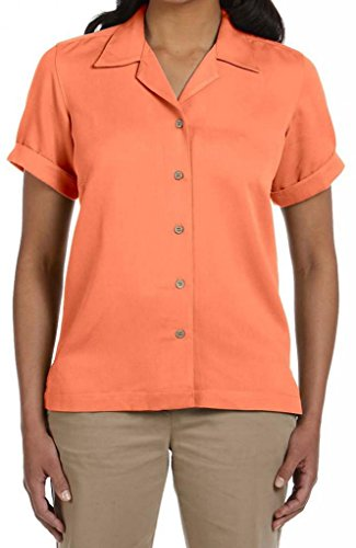 Devon & Jones D670W Women's Isla Camp Shirt L Tangerine