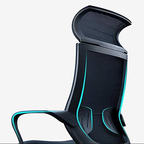 JIEER-C Sovrum nät hög rygg svängbar kontorsstol modern enkelhet E-sportstol andningsbar nät nackstöd lutningsfunktion lat svängstol