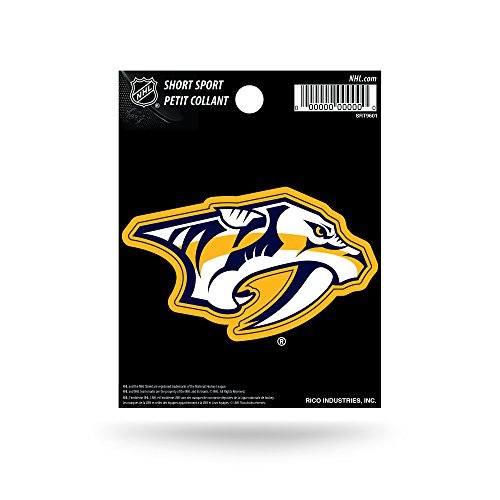 Rico Industries NHL Nashville Predators Die Cut Team Logo Short Sport Sticker