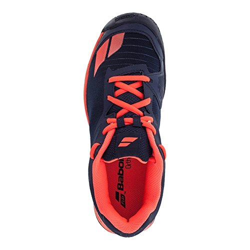 Babolat Junior Jet All Court–Zapatillas de tenis azul oscuro y rojo