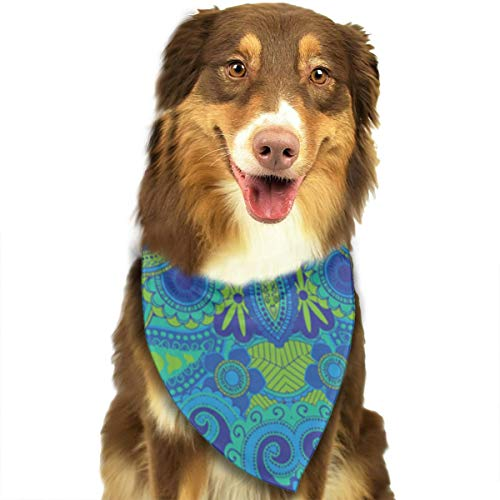 - FRTSFLEE Dog Bandana Jungle Paisley Scarves Accessories Decoration for Pet Cats and Puppies